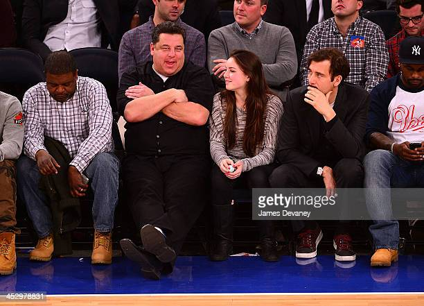 Steve Schirripa and Ciara Schirripa attend the New Orleans Pelicans vs New York Knicks game at Madison Square Garden on December 1 2013 in New York...