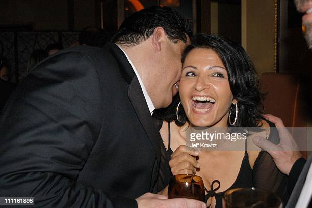 Steve Schirripa and Kathrine Narducci during HBO Screen Actors Guild Party at Spago in Beverly Hills CA United States