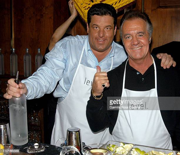 Steve Schirripa and Tony Sirico during Level Vodka Launches Cocktails for a Cause at Marquee in New York City New York United States