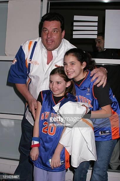 Steve Schirripa Bria Schirripa Ciara Schirripa during Knicks Bowl 5 Benefit at Chelsea Piers Lanes Pier 60 in New York New York United States