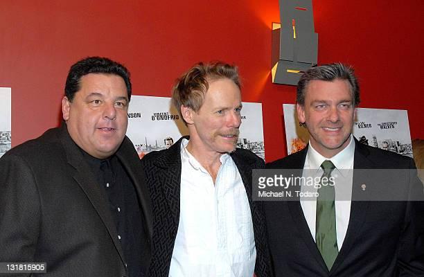 Steve Schirripa Jonathan Hensleigh and Ray Stevenson attend the premiere of 'Kill the Irishman' at Landmark's Sunshine Cinema on March 7 2011 in New...