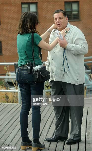 Steve Schirripa on set filming Woody Allen's new Fall Project on September 20 2016 in New York City
