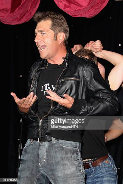 Steve Scott of the ITV news team performs at the Newsroom�s Got Talent event held in aid of Leonard Cheshire Disability and Helen Douglas House at...