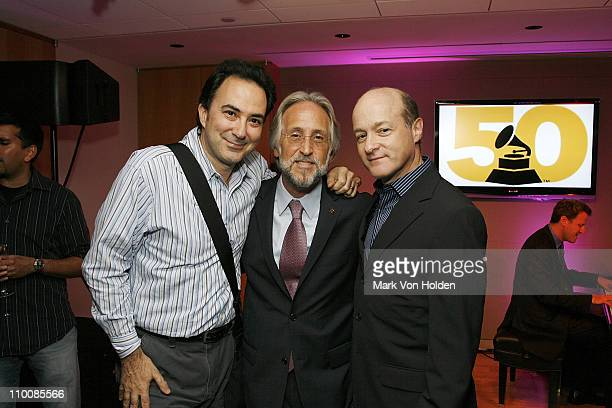 Steve Serrera Recording Academy President/CEO Neil Portnow and David Massey attend the New York Chapter of NARAS Open House Reception at New York...