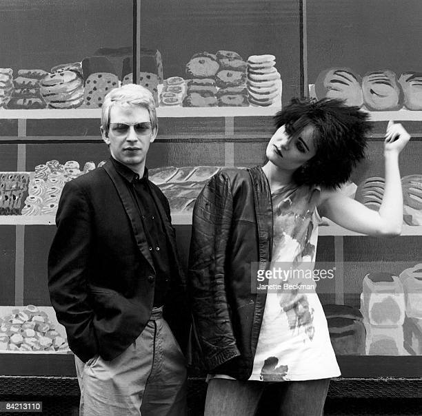 Steve Severin and Siouxsie Sioux of Siouxsie and The Banshees on a New York City street 1987 United States