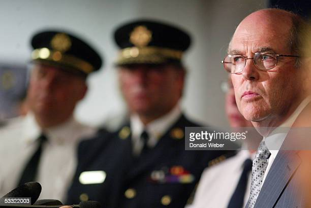Steve Shaw director of corporate affairs for the Greater Toronto Airports Authority speaks to reporters during a news conference at Pearson...