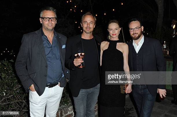 Steve Shaw Jonas Tahlin Kate Bosworth and Dana Brunetti attend Dana Brunetti's Pre Oscar party hosted by Steve Shaw at the private residence of Jonas...