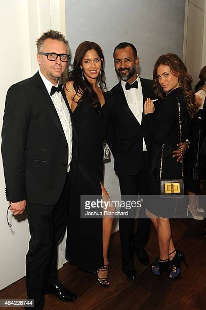 Steve Shaw Keir Alexa Ronnie Madra and guest attend the Treats Magazine hosts their Oscar viewing party at the Treats Oscar Villa presented by Cineme...