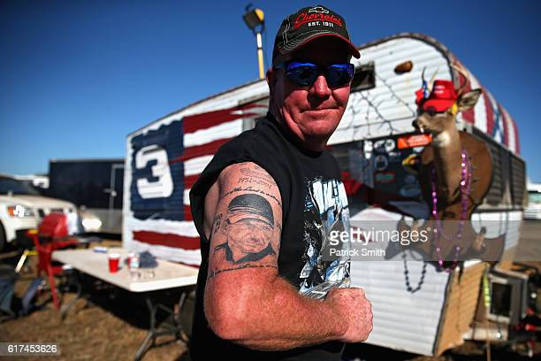 Steve Shelley of Oklahoma poses for a portait in the campgrounds prior to the NASCAR Sprint Cup Series Hellmann's 500 at Talladega Superspeedway on...