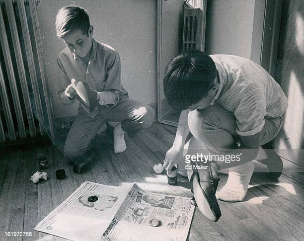 MAR 8 1968 APR 13 1968 APR 17 1968 Steve Simpson of 1261 Brentwood St left and Rick Pallotto of 1205 Yarrow St show what they have learned about...