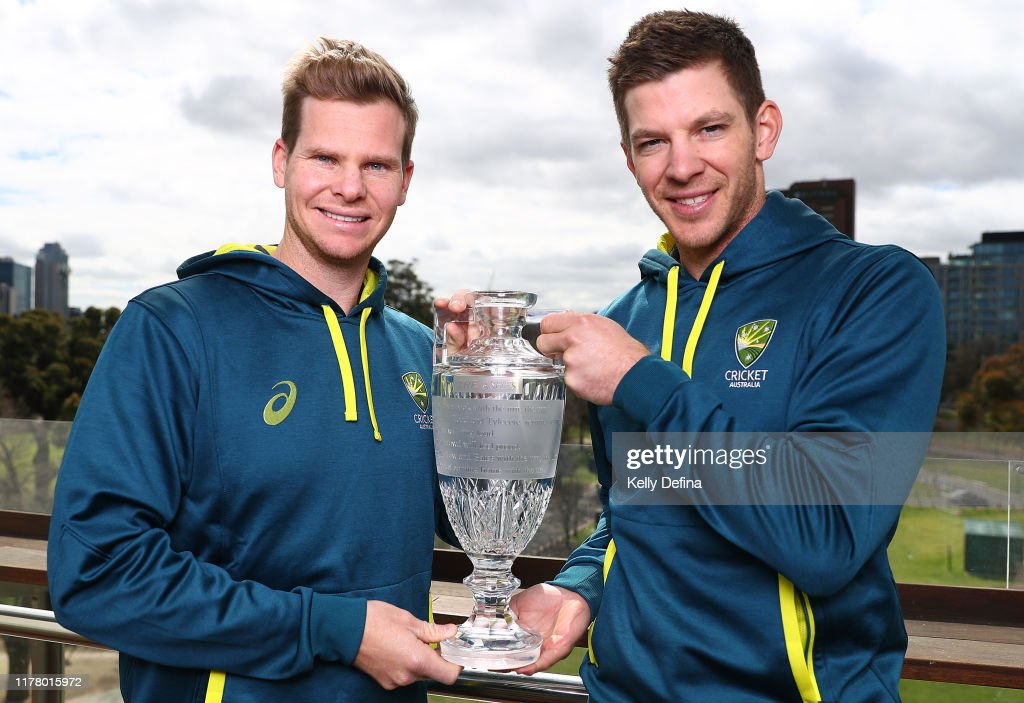 Steve Smith & Tim Paine Return to Melbourne With Ashes Trophy : News Photo