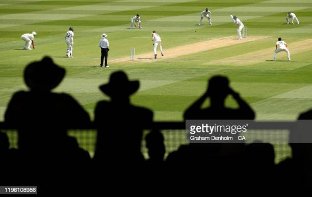 Steve Smith bats during day two of the Second Test match in the series between Australia and New Zealand at Melbourne Cricket Ground on December 27,...