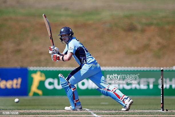 Steve Smith captain of the Blues batting during his innings of 139 not out against the Bulls in the Matador BBQ's OneDay Cup between New South Wales...