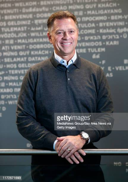 Steve Smith CEO of Equinix is photographed at their headquarters in Redwood City California on Monday Nov 13 2017 Equinix provides network...