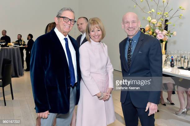 Steve Smith Lisa Dennison and Marty Kaplan attend LACMA 2018 Collectors Committee Gala at LACMA on April 21 2018 in Los Angeles California