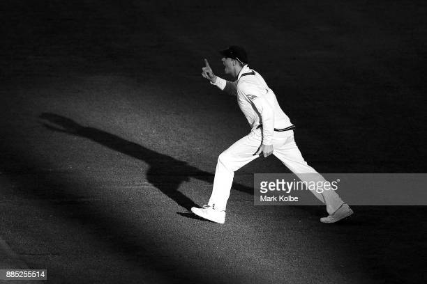 Steve Smith of Australia appeals during day three of the Second Test match during the 2017/18 Ashes Series between Australia and England at Adelaide...