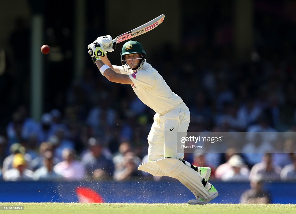 Steve Smith of Australia bats during day two of the Fifth Test match in the 2017/18 Ashes Series between Australia and England at Sydney Cricket Ground on January 5, 2018 in Sydney, Australia.