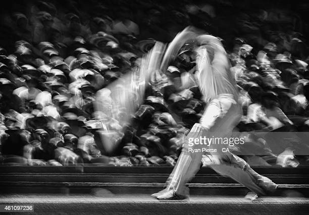 Steve Smith of Australia bats during day two of the Fourth Test match between Australia and India at Sydney Cricket Ground on January 7, 2015 in...