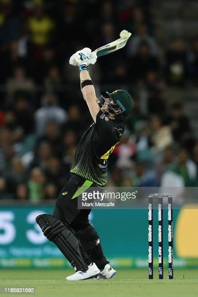 Steve Smith of Australia bats during game two of the International Twenty20 series between Australia and Pakistan at Manuka Oval on November 05, 2019...