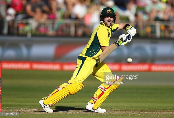 Steve Smith of Australia during the 3rd Momentum ODI Series match between South Africa and Australia at Sahara Stadium Kingsmead on October 05 2016...