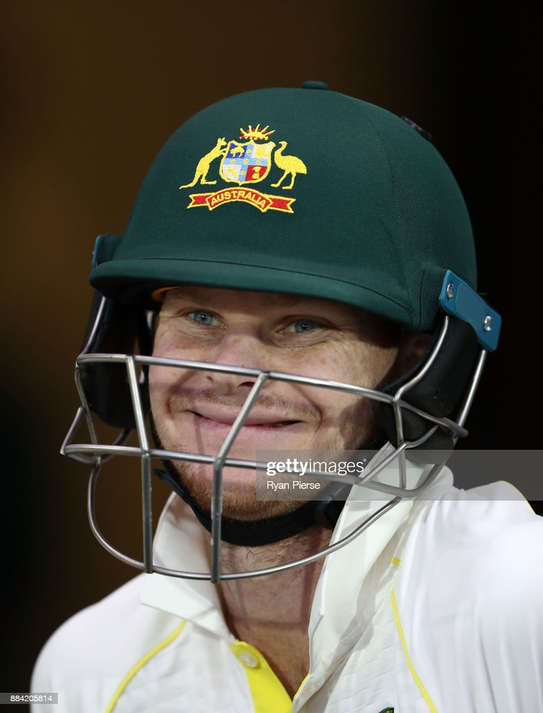 Steve Smith of Australia looks on during day one of the Second Test match during the 2017/18 Ashes Series between Australia and England at Adelaide Oval on December 2, 2017 in Adelaide, Australia.
