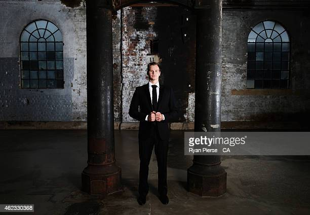 Steve Smith of Australia poses ahead of the 2015 Allan Border Medal at Carriageworks on January 27, 2015 in Sydney, Australia.