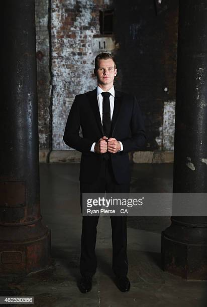 Steve Smith of Australia poses ahead of the 2015 Allan Border Medal at Carriageworks on January 27 2015 in Sydney Australia
