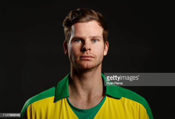 Steve Smith of Australia poses during an Australia ICC One Day World Cup Portrait Session on May 07, 2019 in Brisbane, Australia.