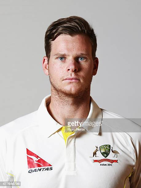 Steve Smith of Australia poses during an Australian Cricket Team Ashes portrait session on June 1 2015 in Roseau Dominica