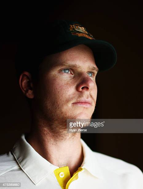 Steve Smith of Australia poses during an Australian portrait session on May 31 2015 in Roseau Dominica