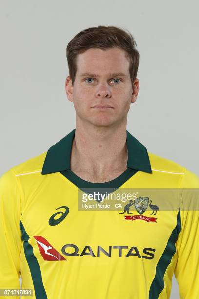 Steve Smith of Australia poses during the Australia One Day International Team Headshots Session at Intercontinental Double Bay on October 15 2017 in...