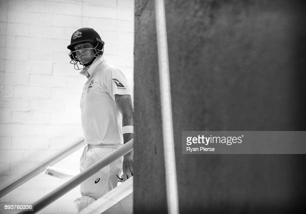Steve Smith of Australia walks out to bat during day three of the Third Test match during the 2017/18 Ashes Series between Australia and England at...