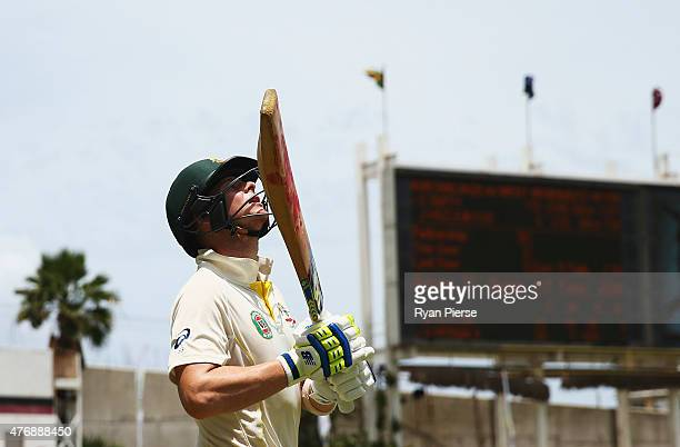 Steve Smith of Australia walks out to bat during day two of the Second Test match between Australia and the West Indies at Sabina Park on June 12...