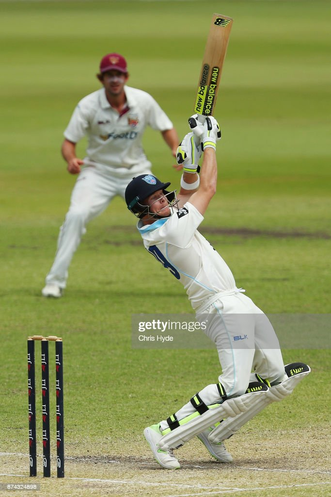 Steve Smith of New South Wales bats during day three of the Sheffield Shield match between Queensland and New South Wales at Allan Border Field on November 15, 2017 in Brisbane, Australia.