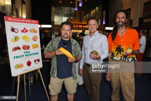 Steve Spangler actor Bill Pullman and Alex Silber attend the premiere of 'Fruit Hunters' at the Laemmle Monica 4Plex on May 13 2013 in Santa Monica...