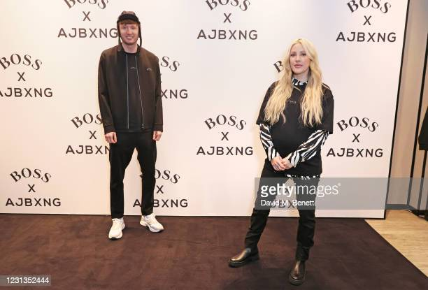 Steve Stamp of Kurupt FM and Ellie Goulding attend the unveiling of the BOSS x AJBXNG second capsule collection at BOSS Store, Regent Street, on...