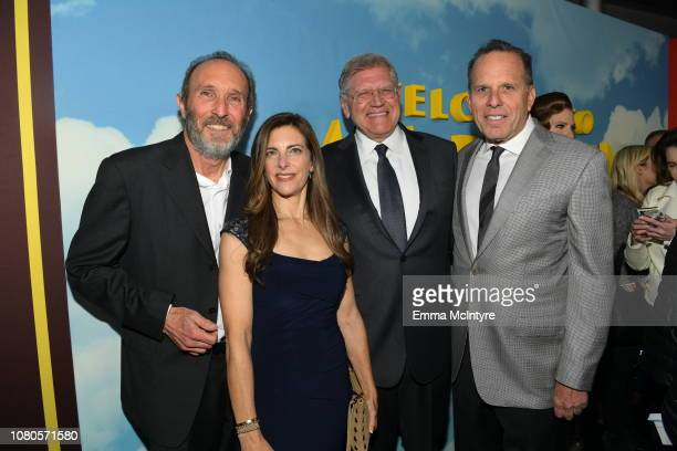 Steve Starkey Jackie Levine Robert Zemeckis and Jack Rapke attend Universal Pictures and DreamWorks Pictures' premiere of Welcome To Marwen at...