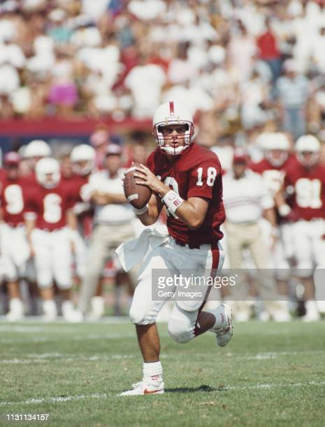 Steve Stenstrom, Quarterback for the Stanford Cardinal during the NCAA Independent college football game against the University of Oregon Ducks on 12...