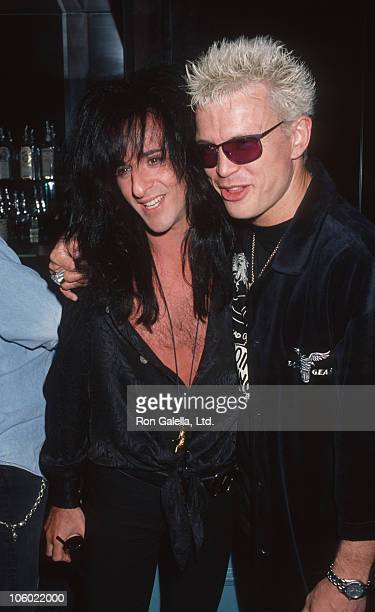 Steve Stevens and Billy Idol during Listening Party for Vince Neil's 'Exposure' April 12 1993 at Ava's Nightclub in West Hollywood California United...