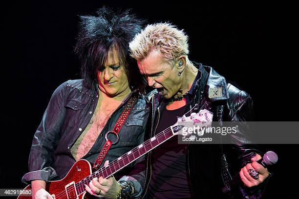 Steve Stevens and Billy Idol perform in support of the 'Kings Queens of The Underground' tour at The Fillmore Detroit on February 6 2015 in Detroit...