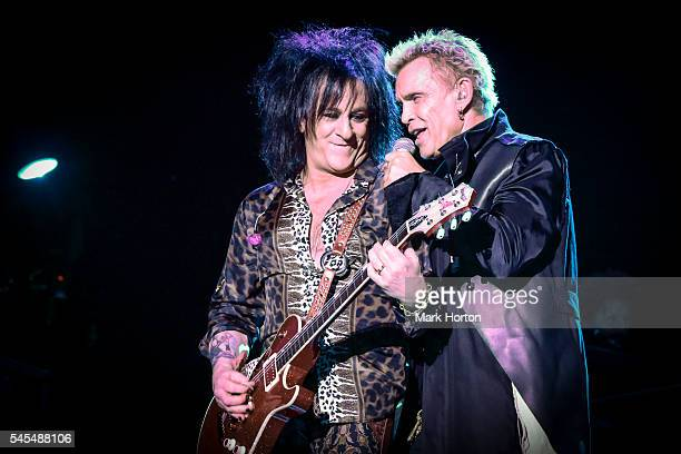 Steve Stevens and Billy Idol perform live at the RBC Bluesfest on July 7 2016 in Ottawa Canada