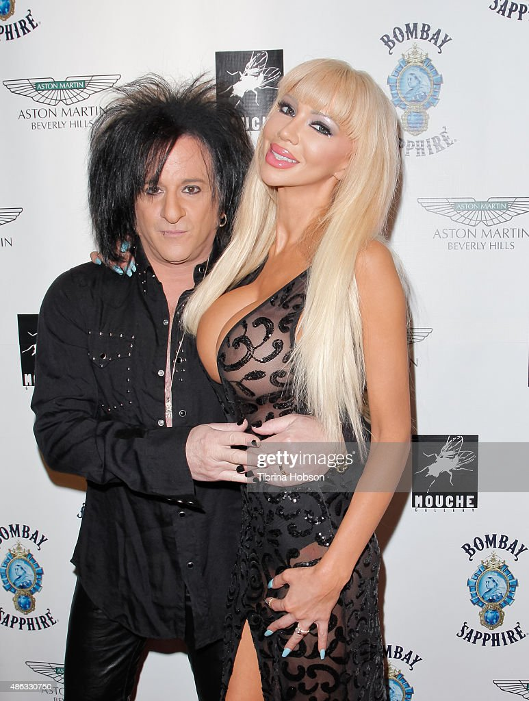 Steve Stevens and Josie Stevens attend the VIP opening reception for 'Dis-Ease', an evening of fine art with Billy Morrison at Mouche Gallery on September 2, 2015 in Beverly Hills, California.