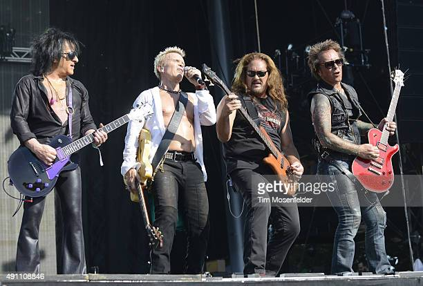 Steve Stevens Billy Idol Stephen McGrath and Billy Morrison perform during the ACL Music Festival at Zilker Park on October 2 2015 in Austin Texas