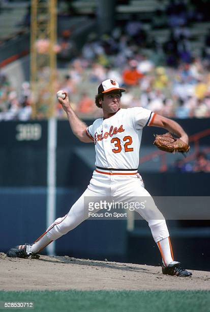 Steve Stone of the Baltimore Orioles pitches during an Major League Baseball game circa 1979 at Memorial Stadium in Baltimore, Maryland. Stone played...