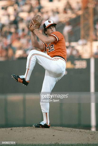 Steve Stone of the Baltimore Orioles pitches during an Major League Baseball game circa 1980 at Memorial Stadium in Baltimore, Maryland. Stone played...
