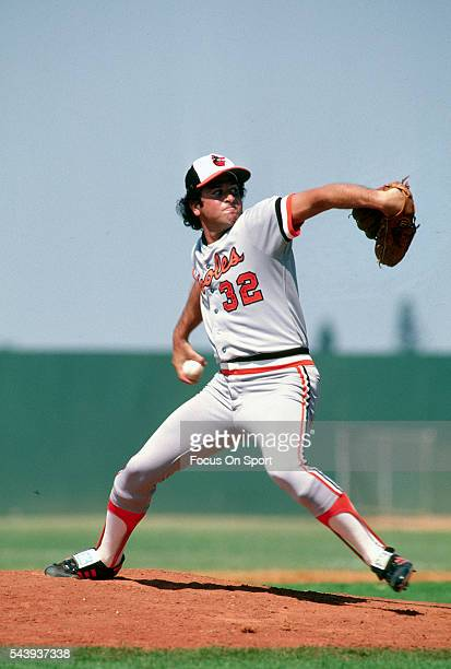 Steve Stone of the Baltimore Orioles pitches during an Major League Baseball spring training game circa 1981. Stone played for the Orioles in 1979-81.