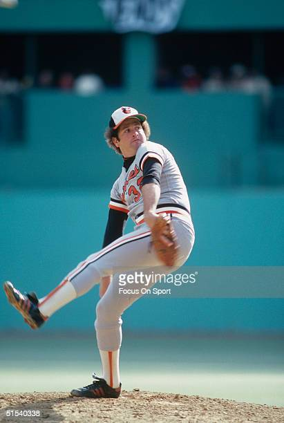 Steve Stone of the Baltimore Orioles pitches during the World Series against the Pittsburgh Pirates at Three Rivers Stadium on October 1979 in...