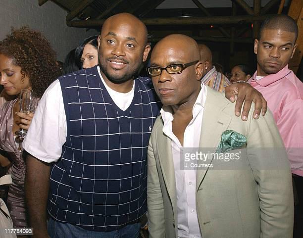Steve Stout and Antonio 'LA' Reid during LA Reid Birthday Celebration Inside at Cipriani's in New York City New York United States