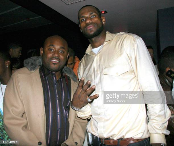 Steve Stout and LeBron James during LeBron James PostGame After Party April 5 2006 at BED in New York City New York United States