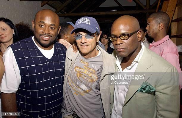 Steve Stout Jimmy Iovine and Antonio 'LA' Reid during LA Reid Birthday Celebration Inside at Cipriani's in New York City New York United States